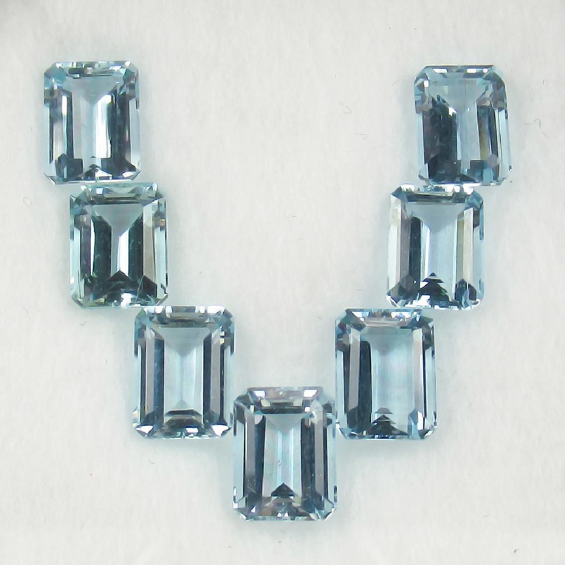 10.85 Carat Loose Aquamarine Octagon Necklace Set