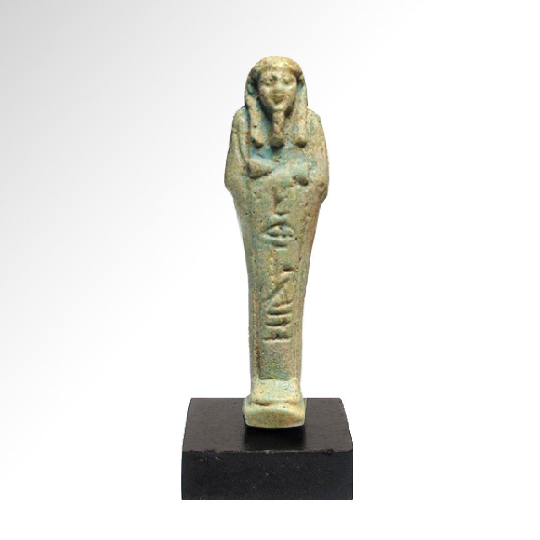 Egyptian Faience Shabti, Inscribed to Weser Tut, c. 500