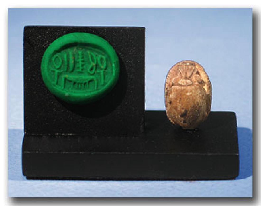 Steatite Scarab, Good Wishes, Egypt, 18th Dynasty, 1560