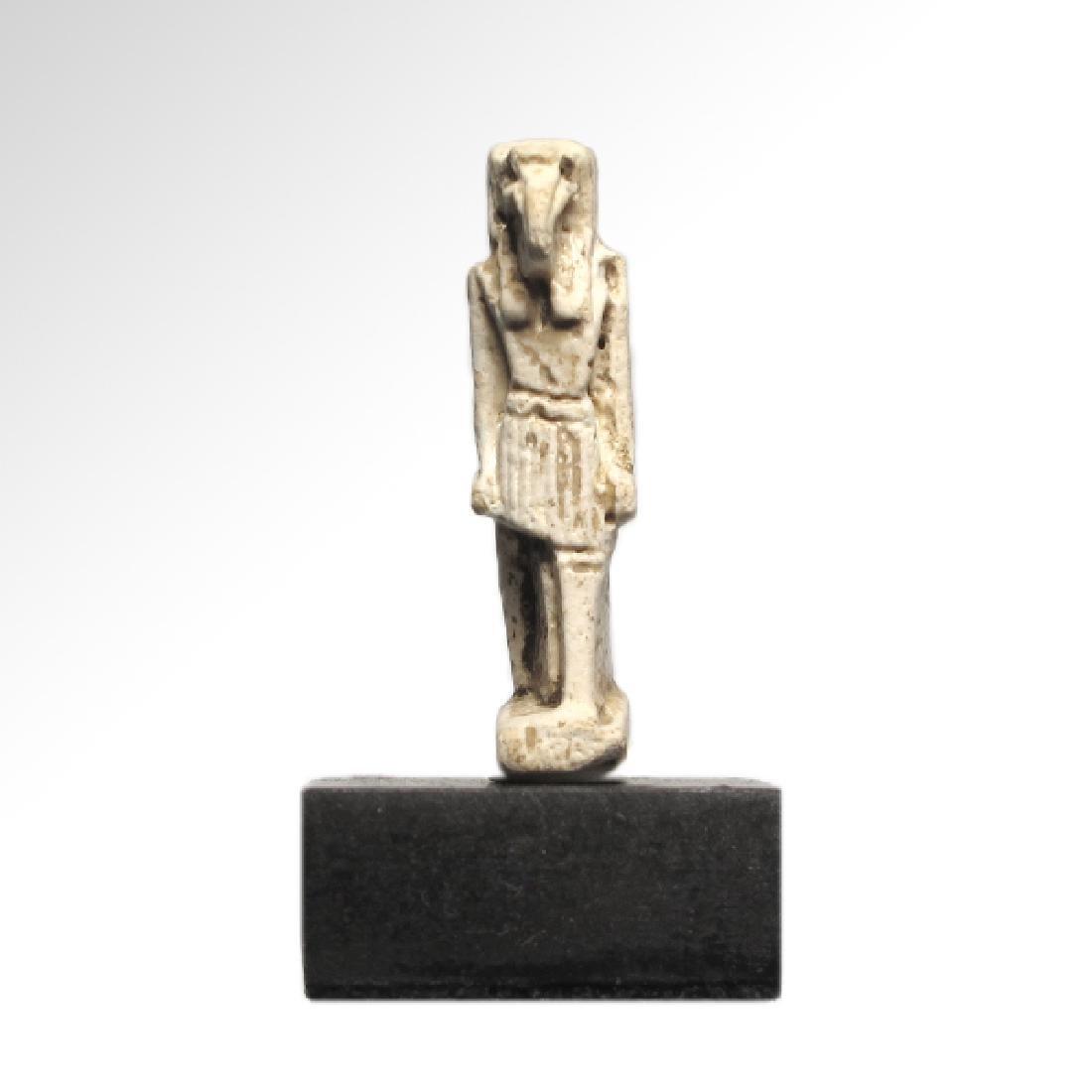 Egyptian Faience Figure of the Ibis-Headed God, Thoth