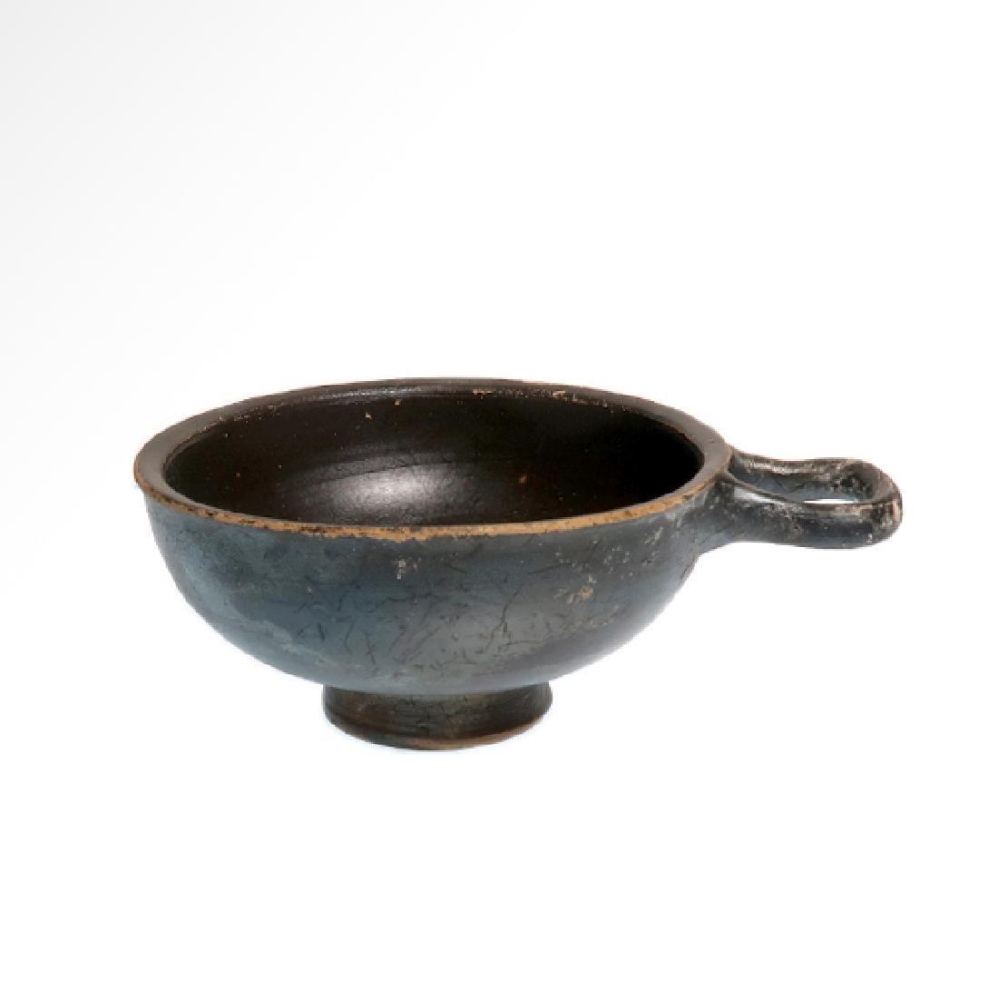 Greek Glazed Pottery cup, c. 350 BC