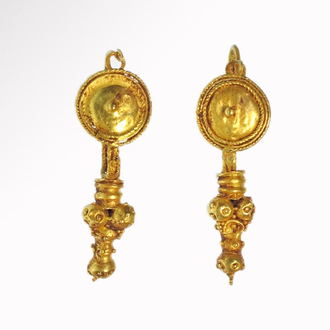 Roman Gold Earrings, 1st-2nd Century A.D.