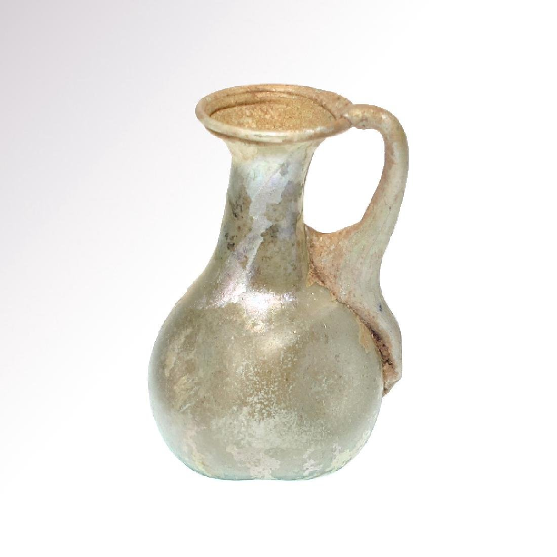 Roman Glass Jug with excellent iridescence, 2nd Century