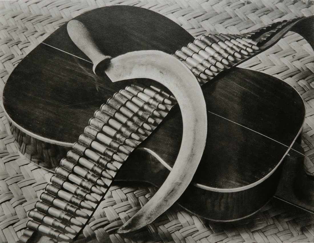 TINA MODOTTI - Composition with sickle, cartridge-belt