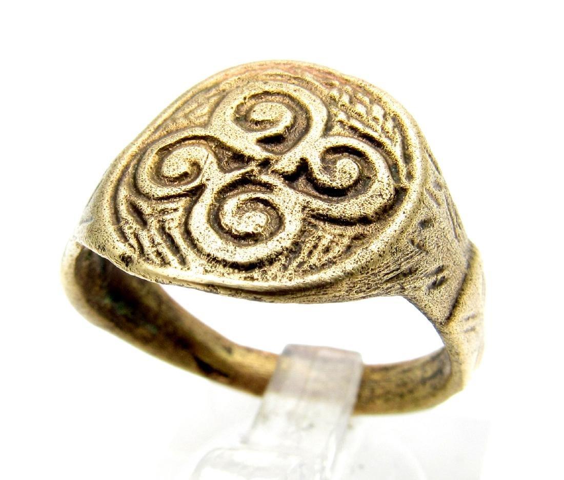Rare Viking Warriors Ring with Swastika