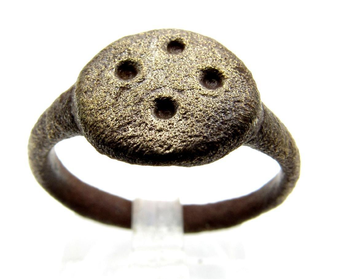 Saxon Ring with Evil's Eye Motif