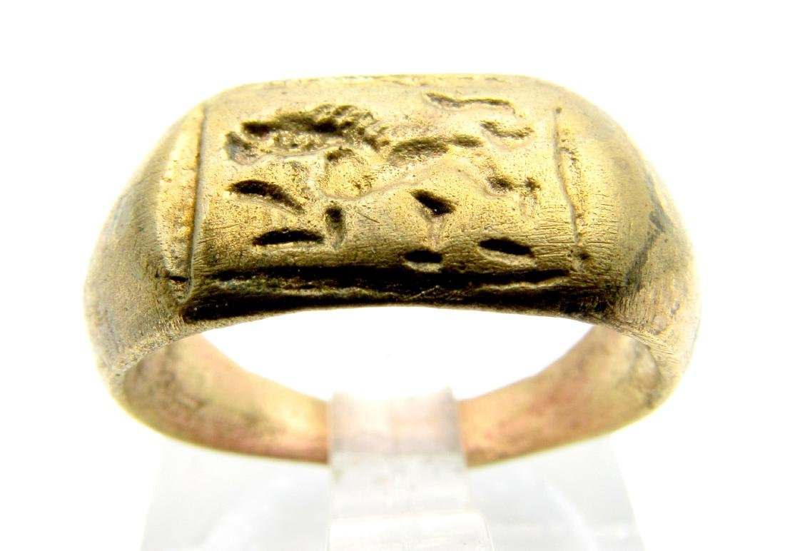 Roman Astrological Ring with Lion