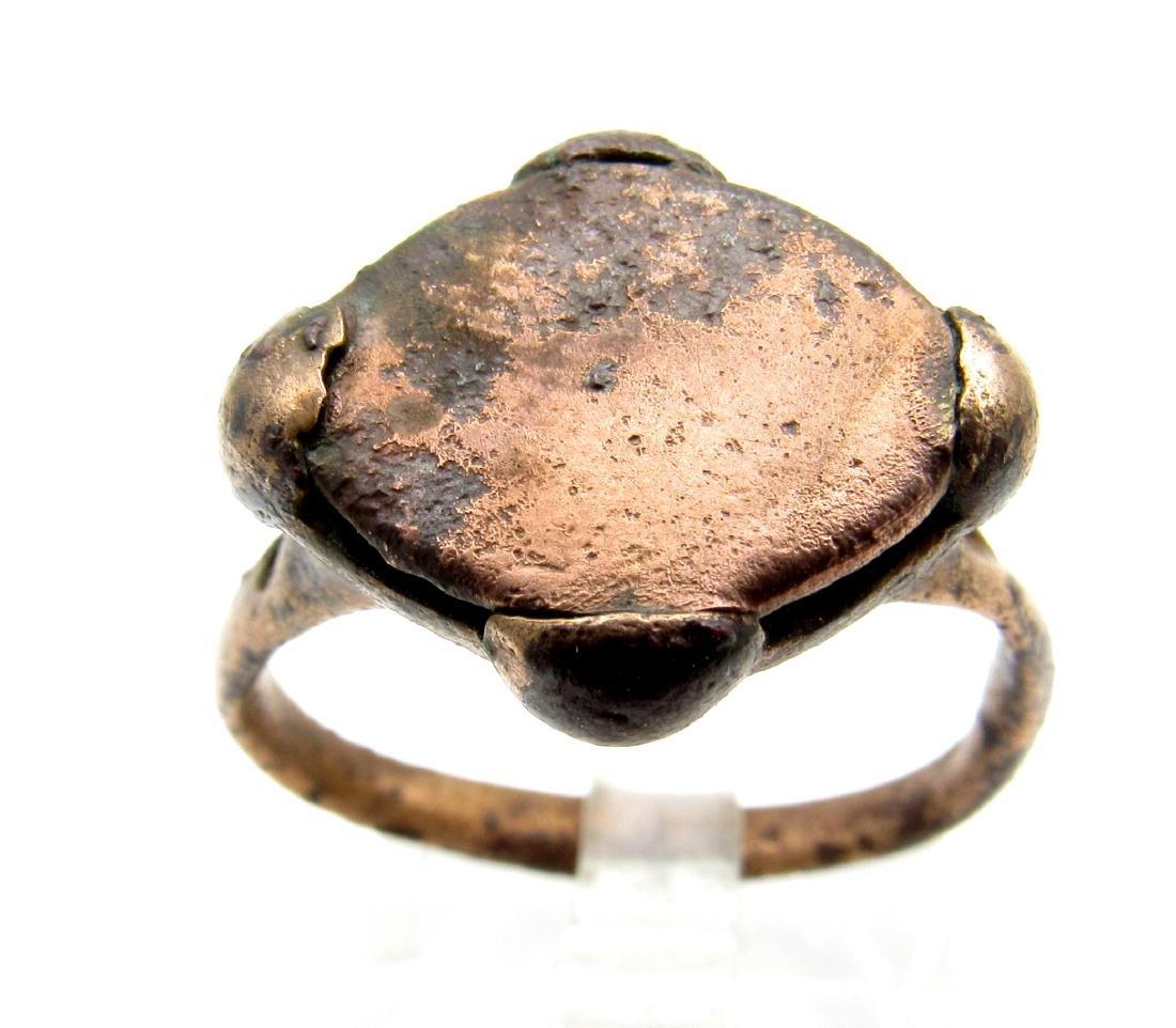 Viking Ring with Metal Inlay