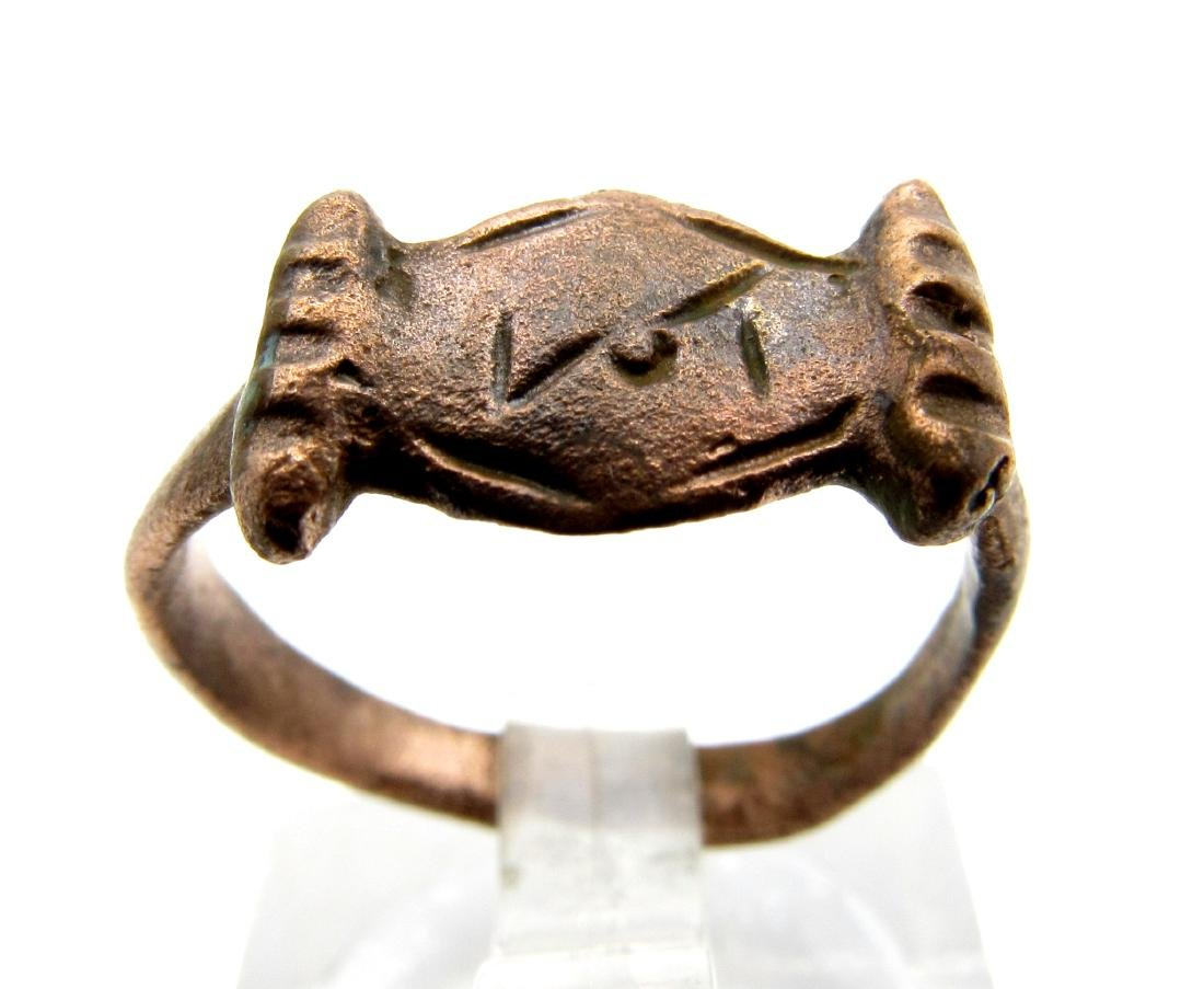 Viking Ring With Runic Script