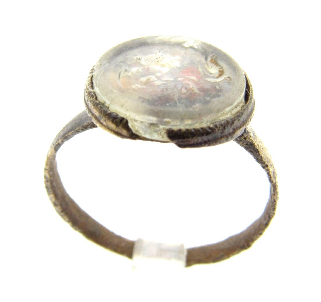 Post Medieval RIng with Bust of a King ( French Origin)