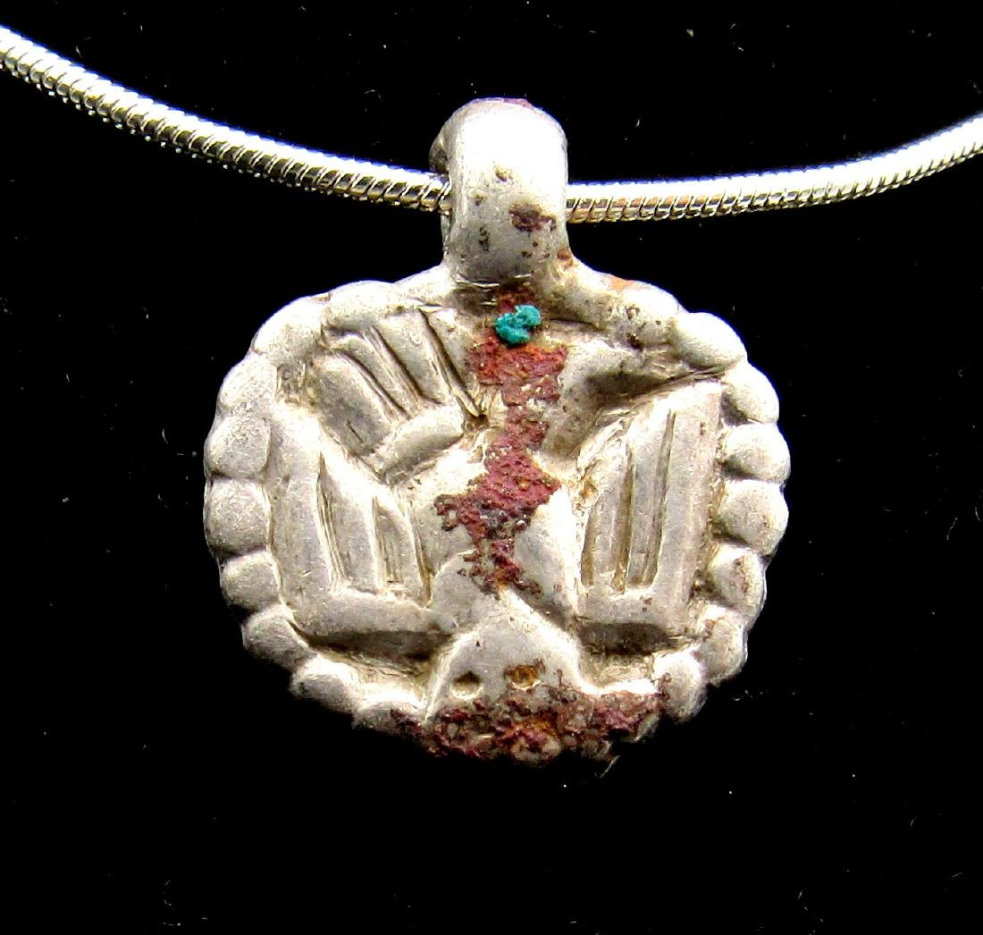 Viking Silver Pendant with Owl