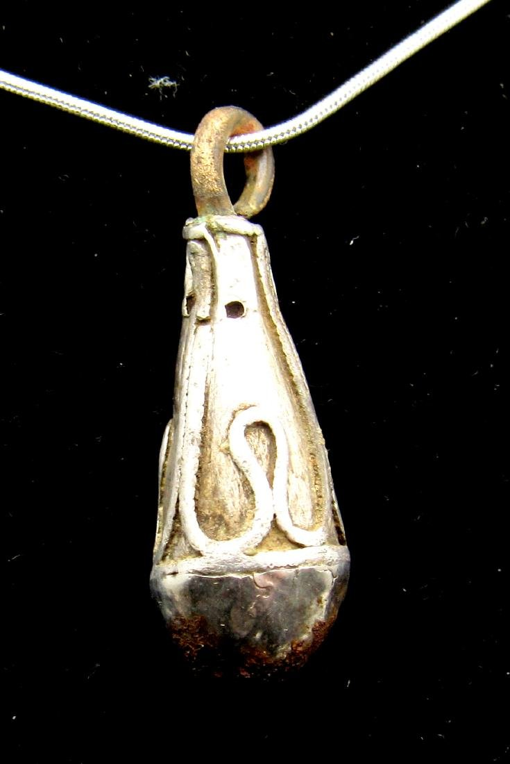 Viking Silver Pendant- Shaped has Mace Head