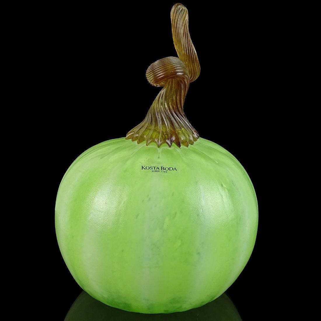 Kosta Boda Art Glass Gourd Pumpkin Sculpure