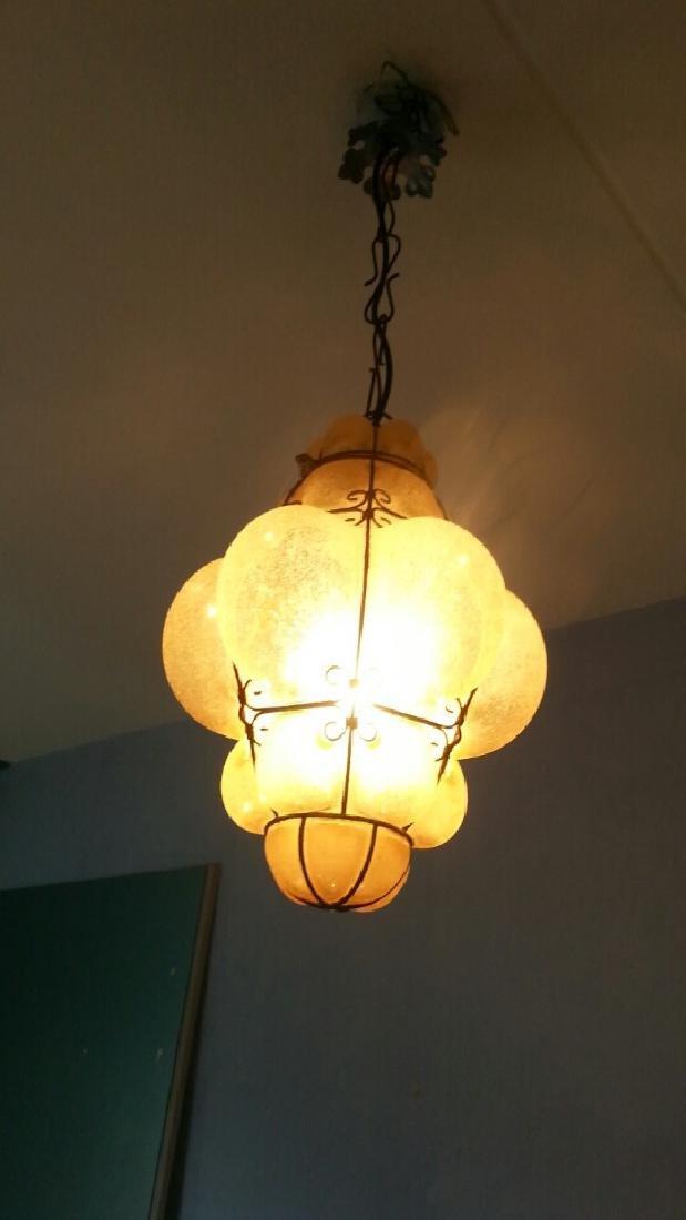 Vintage Venetian Style Seguso Hanging Pendant Lamp