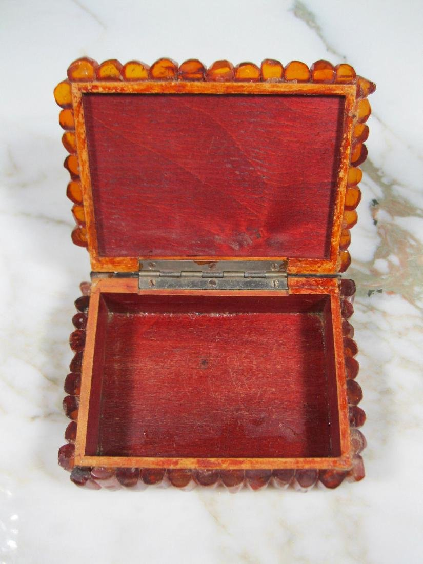 Art Deco Bernstein Butterscotch Amber Jewelry Box - 10