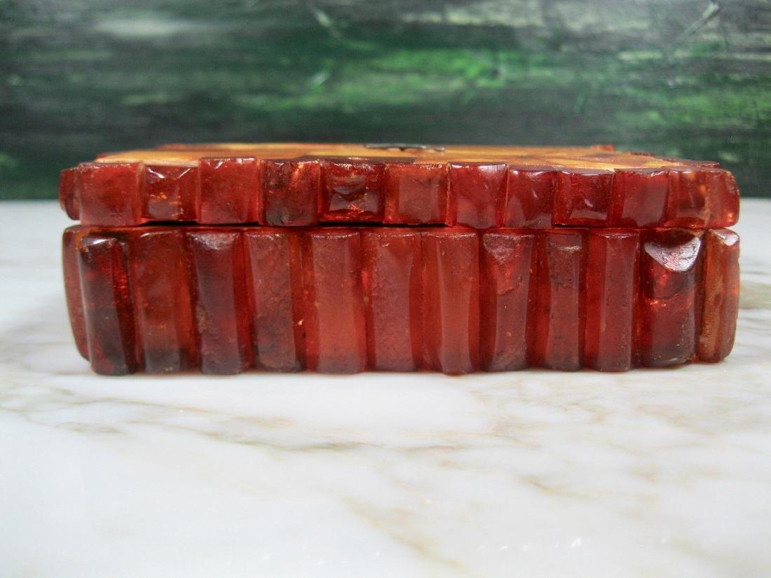 Art Deco Bernstein Butterscotch Amber Jewelry Box - 2