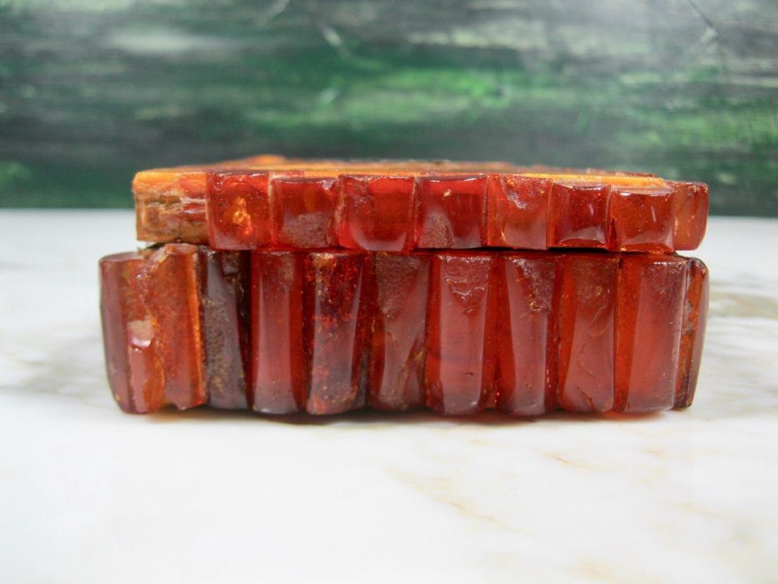 Art Deco Bernstein Butterscotch Amber Jewelry Box - 3