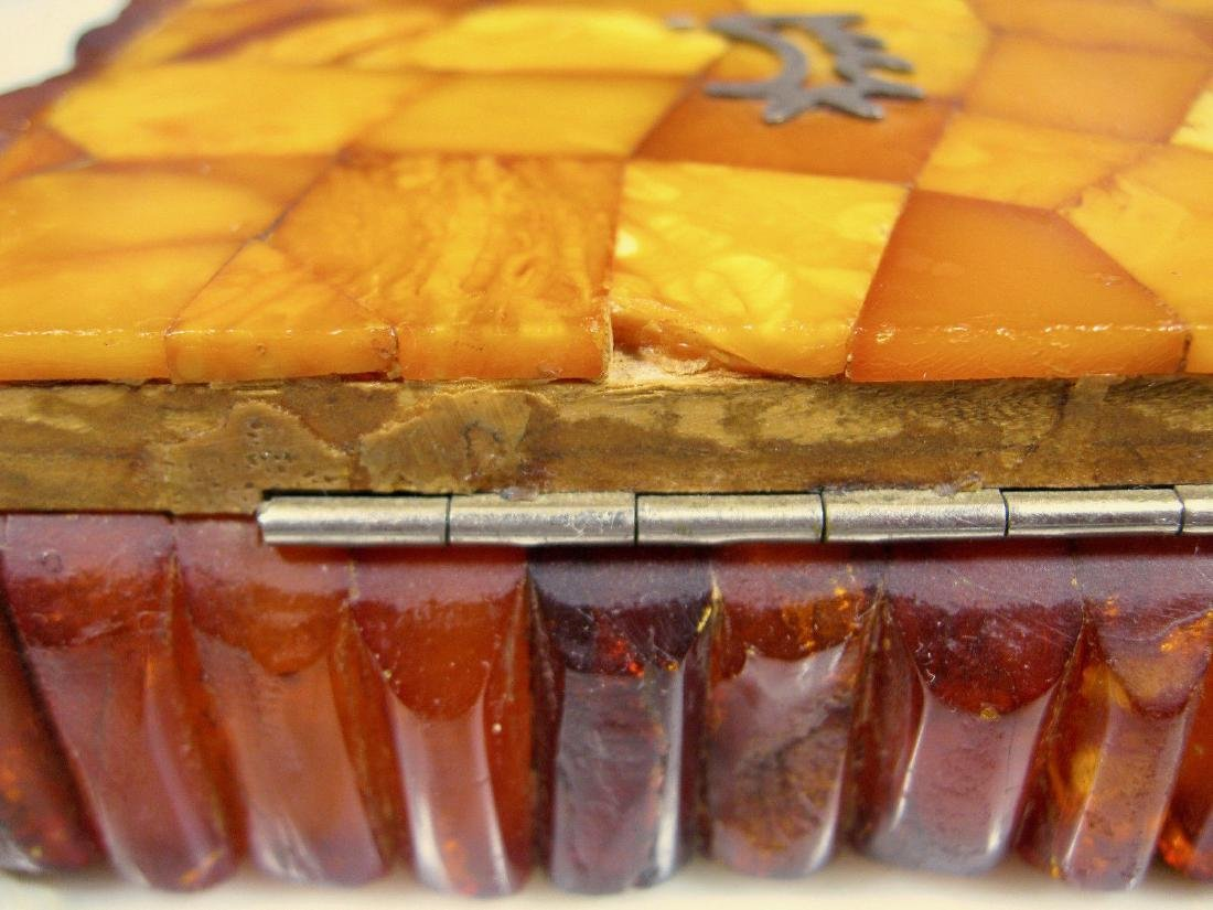 Art Deco Bernstein Butterscotch Amber Jewelry Box - 6