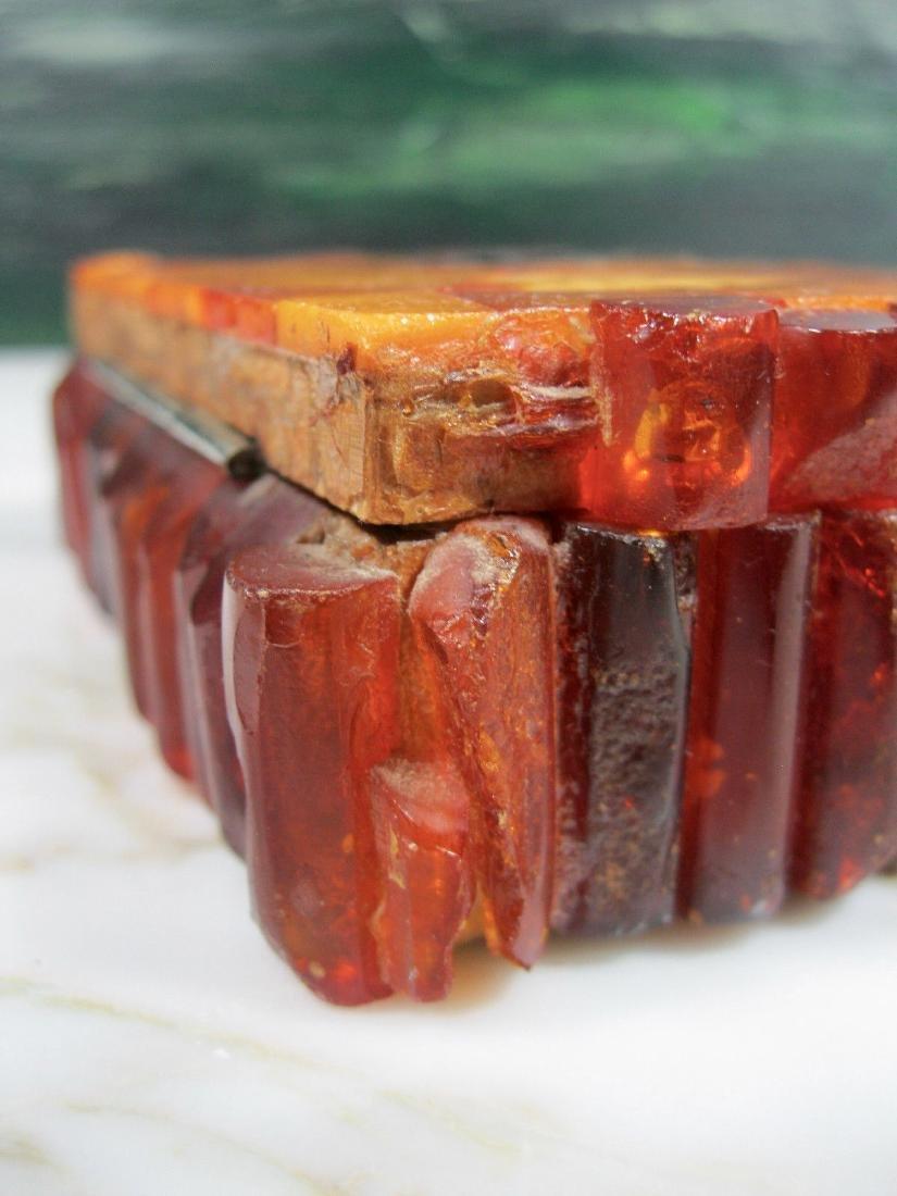 Art Deco Bernstein Butterscotch Amber Jewelry Box - 9