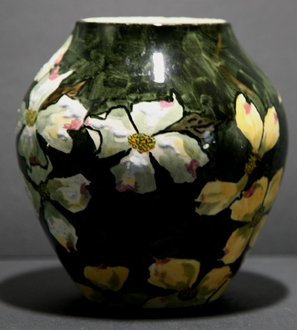 John Bennett NYC Dogwood Blossoms Snow Vase c1880 Mint - 2