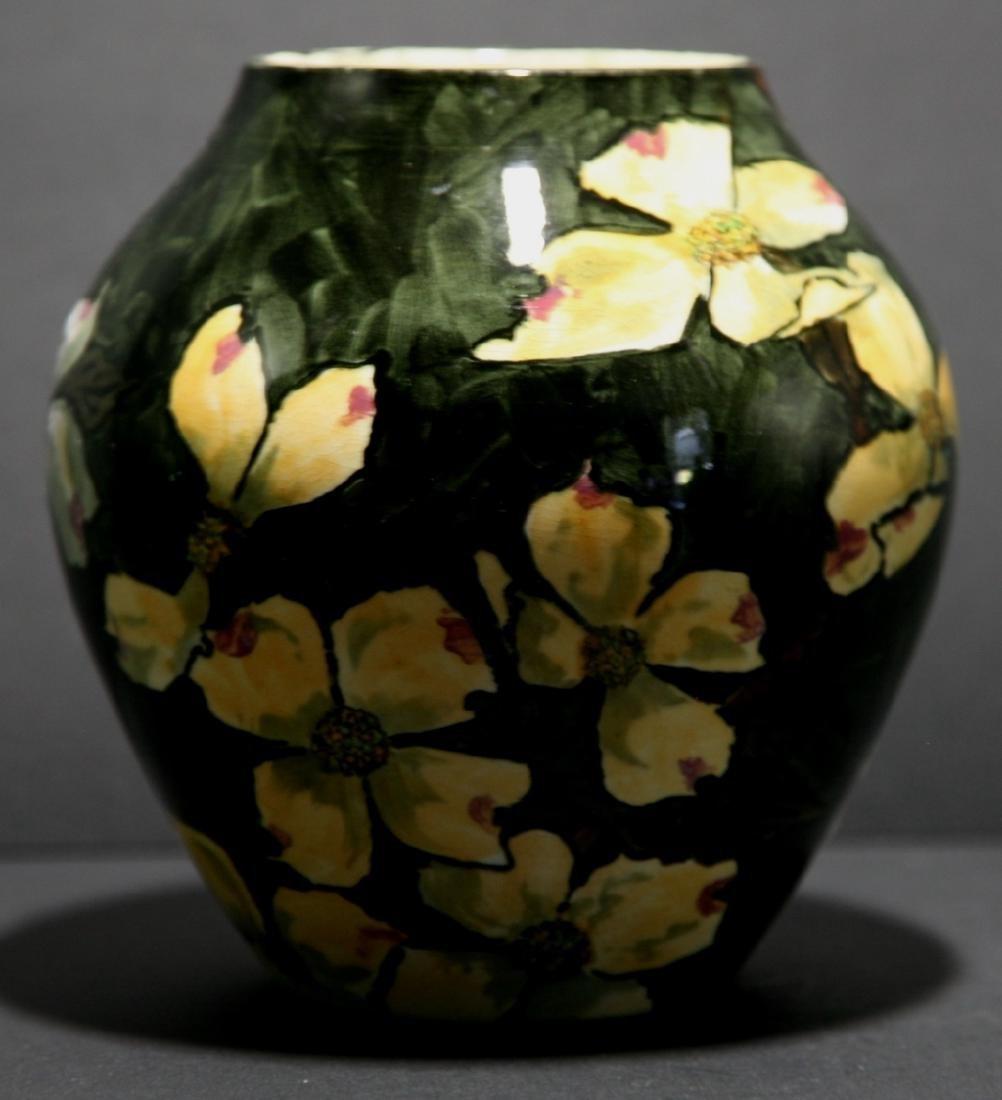 John Bennett NYC Dogwood Blossoms Snow Vase c1880 Mint - 3