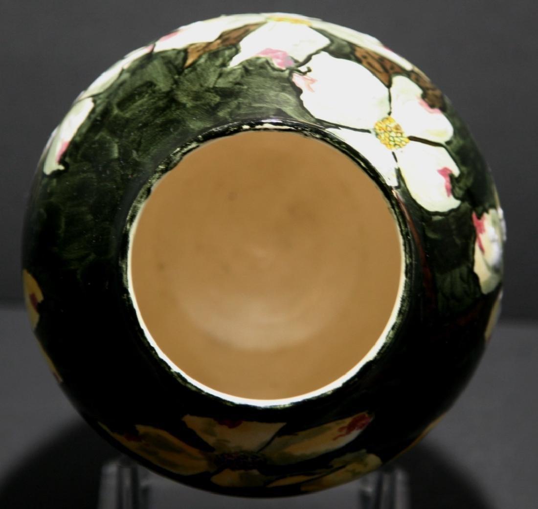 John Bennett NYC Dogwood Blossoms Snow Vase c1880 Mint - 5