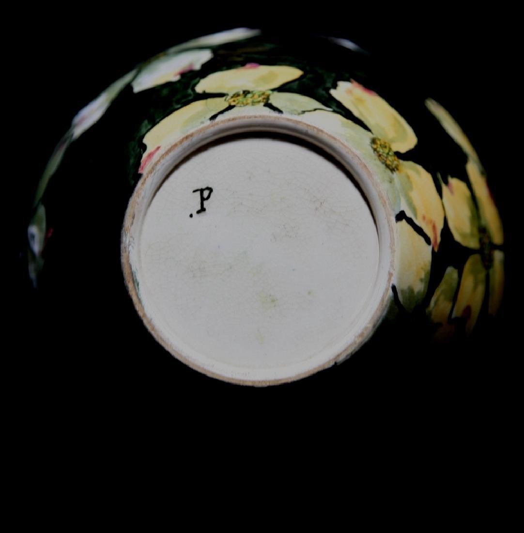 John Bennett NYC Dogwood Blossoms Snow Vase c1880 Mint - 6