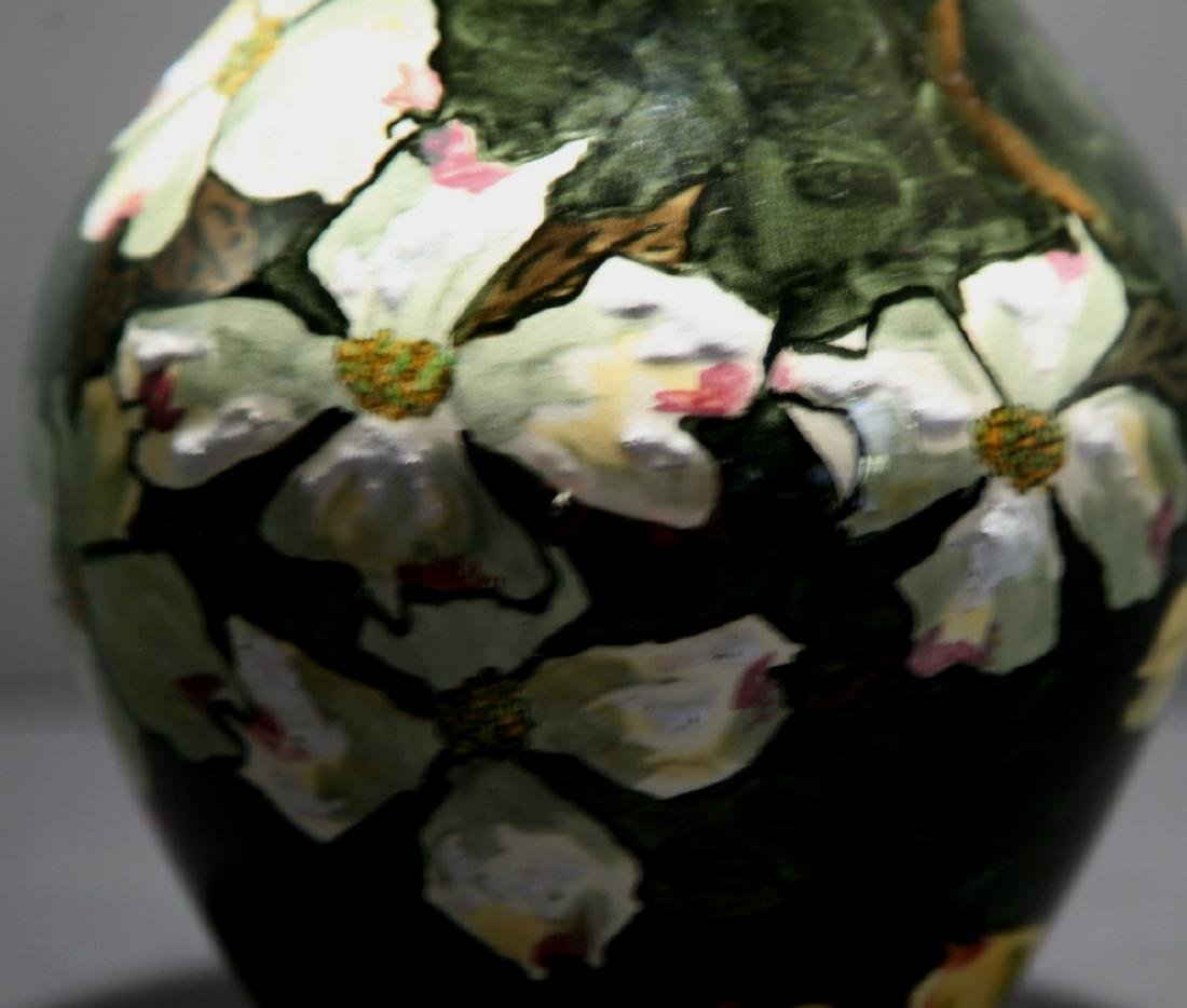 John Bennett NYC Dogwood Blossoms Snow Vase c1880 Mint - 8