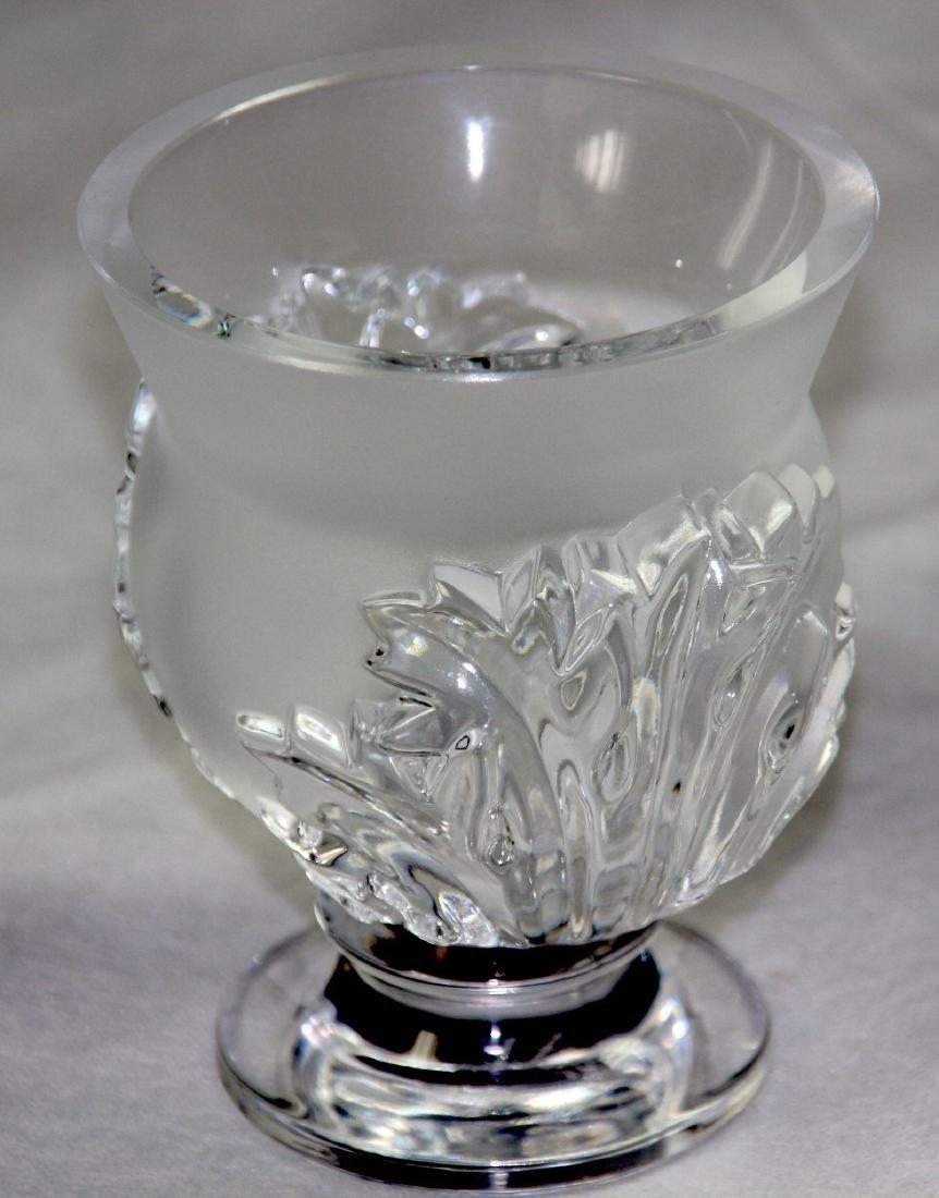 Signed Lalique Crystal Saint Cloud Vase