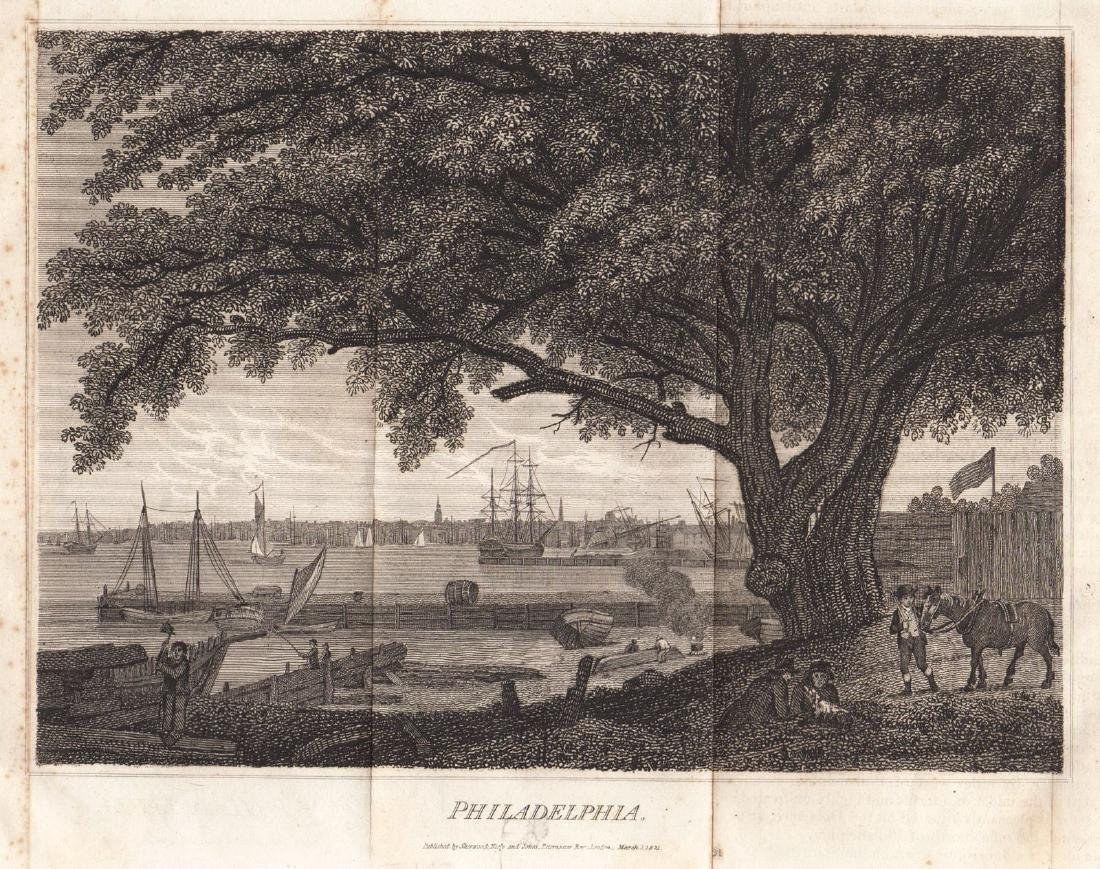 Carey & Lea: Antique View of Philadelphia, 1823
