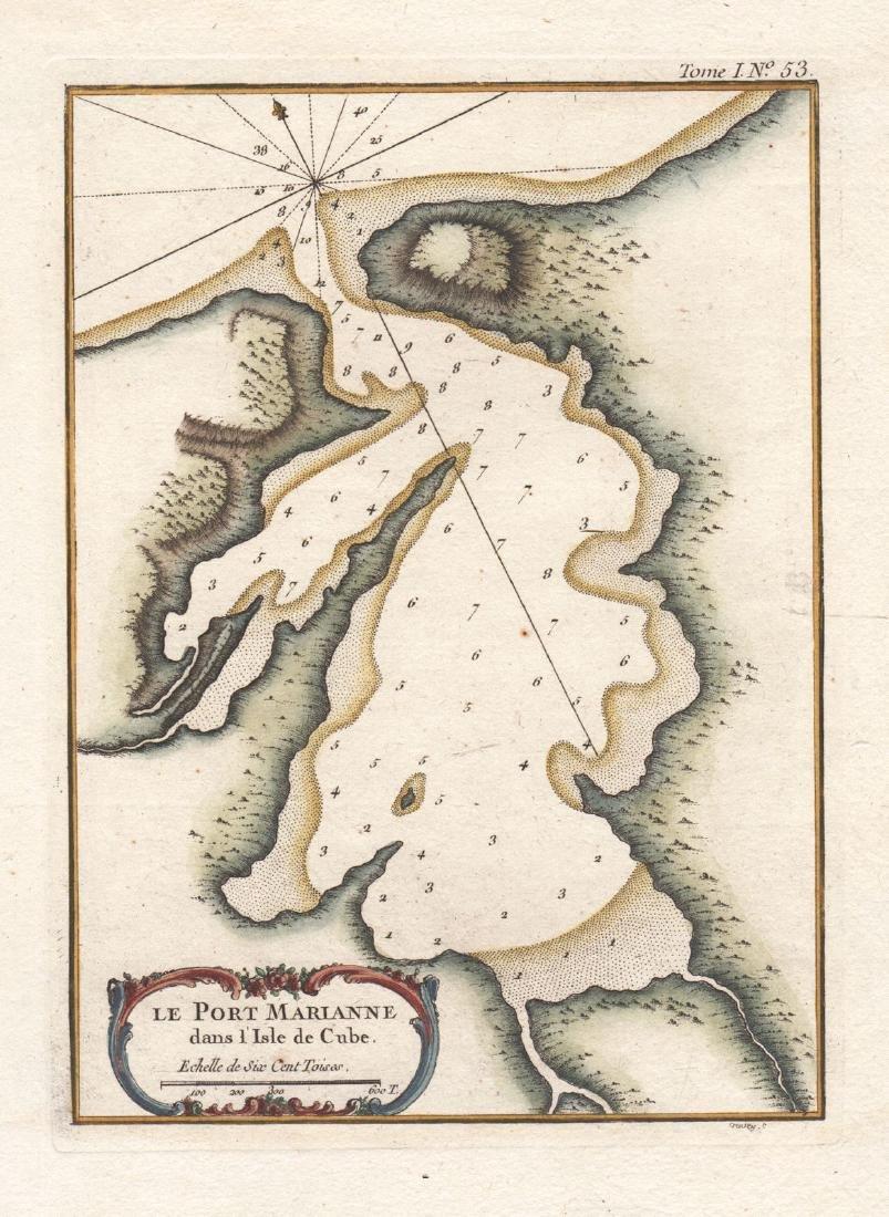 Bellin: Antique Map of the Port of Mariel, Cuba, 1764