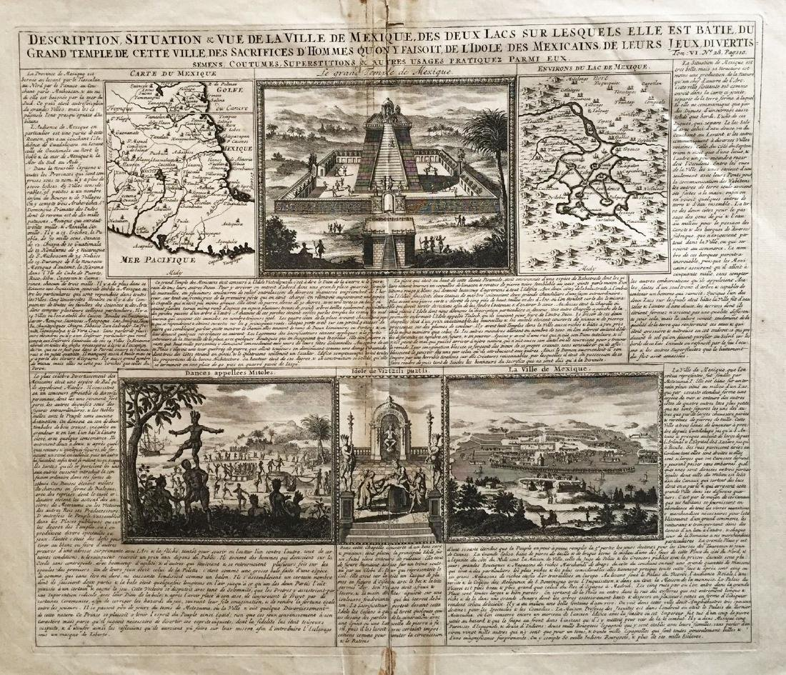 Chatelain: Antique Maps/Views Mexico City & Environs