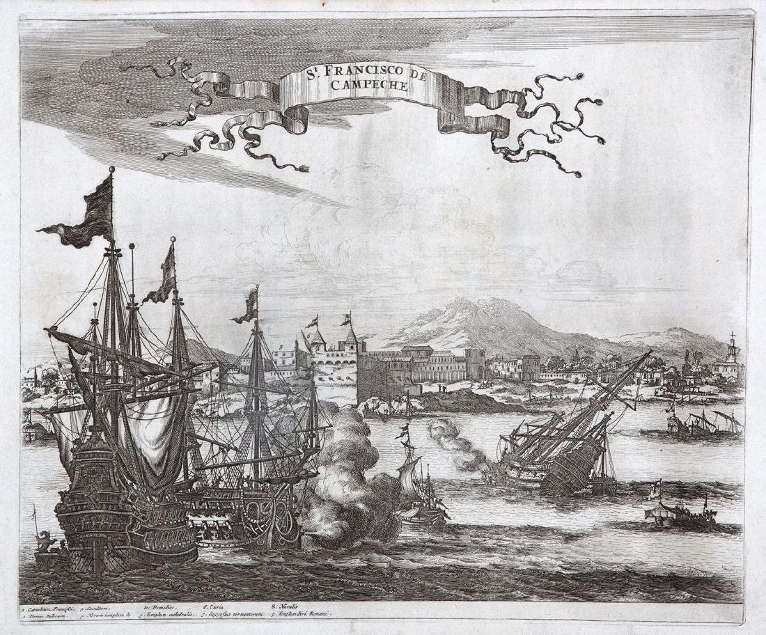Montanus: Antique View of San Francisco de Campeche