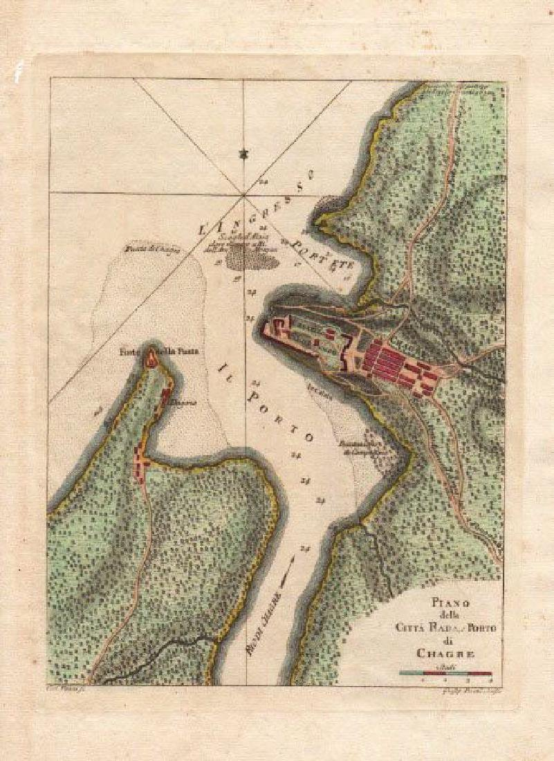 Vanni / Pazzi: Antique Map of Chagres, Panama, 1763