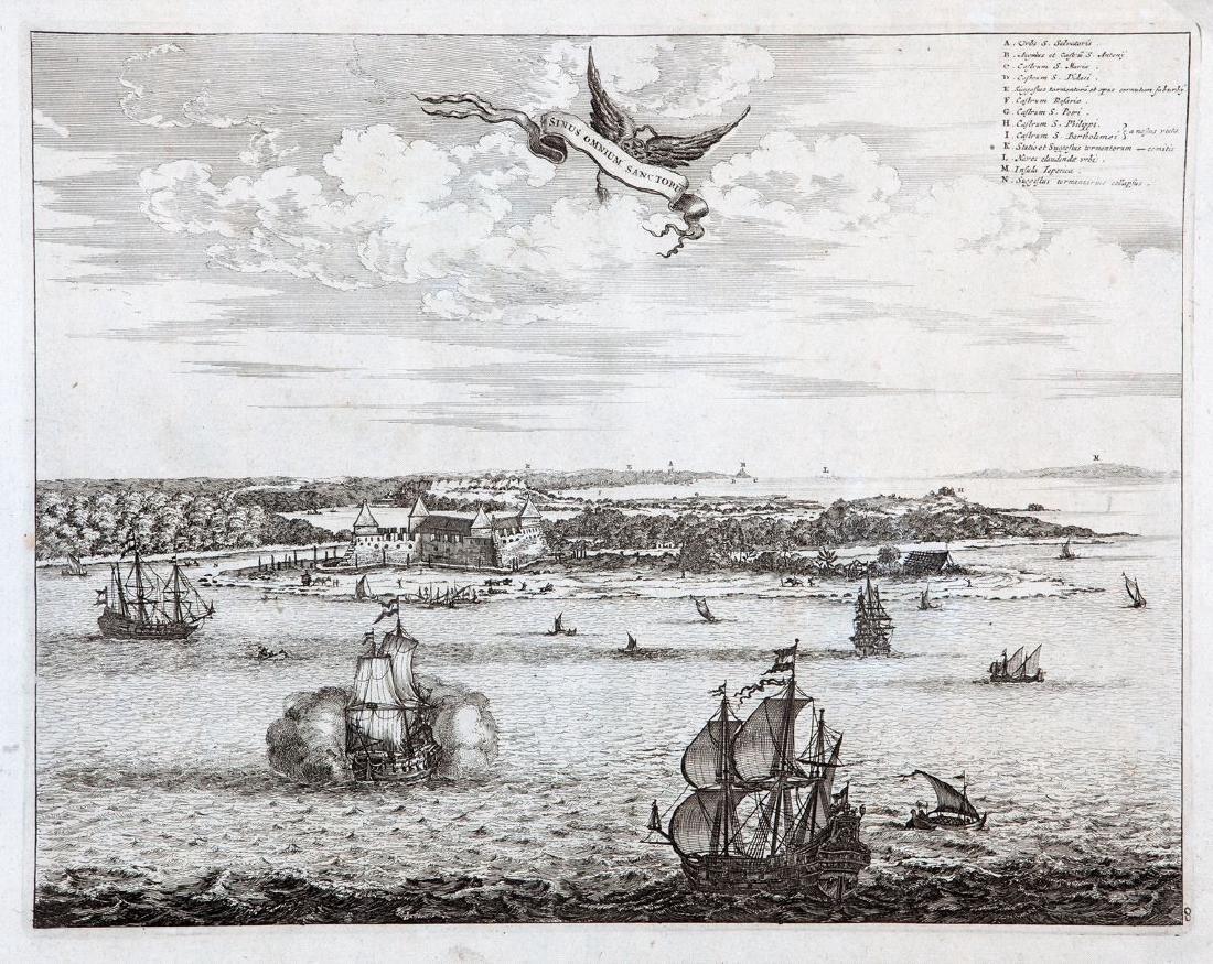 Montanus: Antique View of Todos os Santos, Brazil