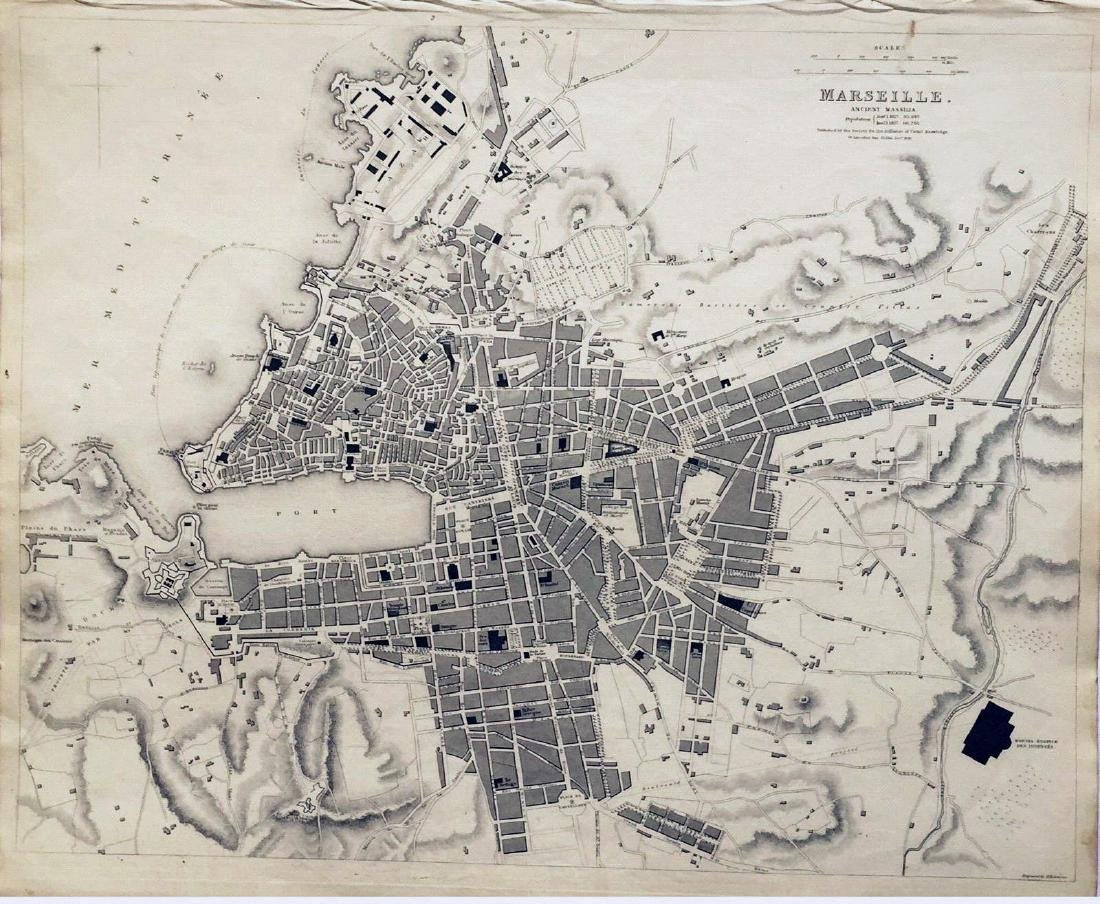 SDUK: Antique Plan of Marseille, 1839