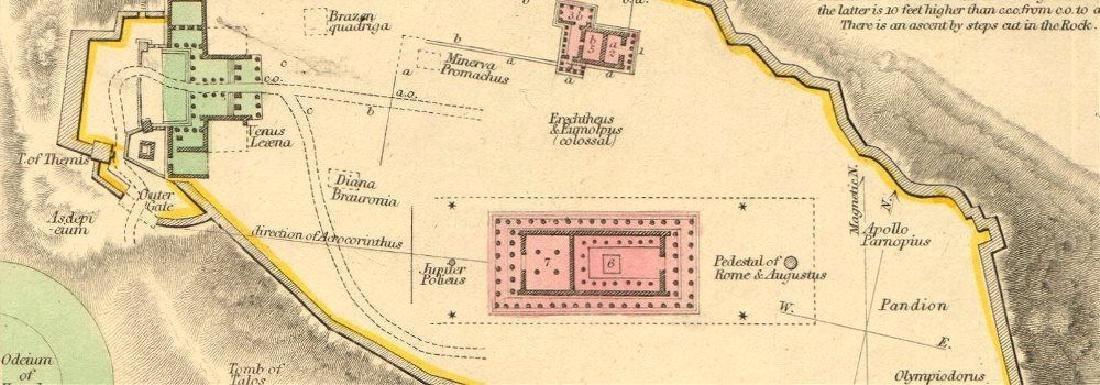 SDUK: Antique Map, City Plan of Athens, 1847 - 2
