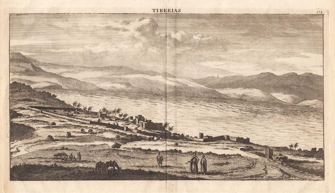 Merian: View of Tiberias on the Sea of Galilee, 1640