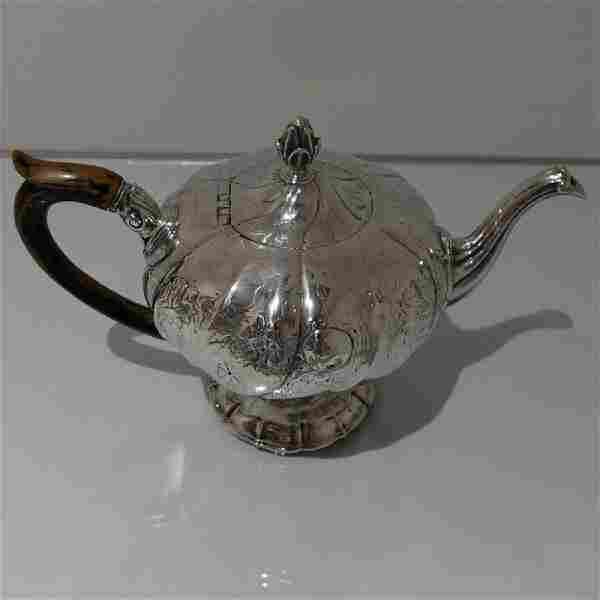 Antique Portuguese Silver Teapot, c1770