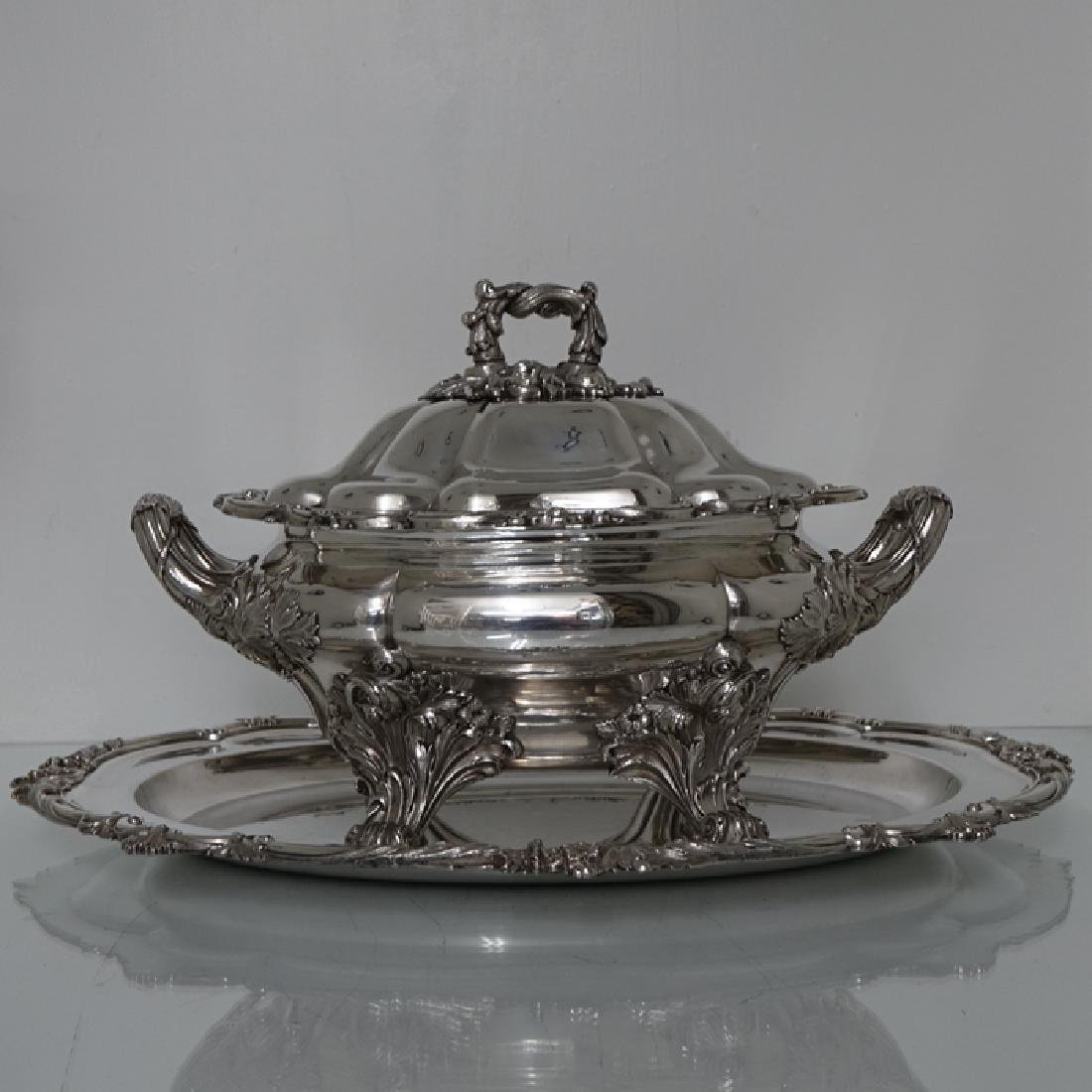 Antique William IV Old Sheffield Silver Soup Tureen