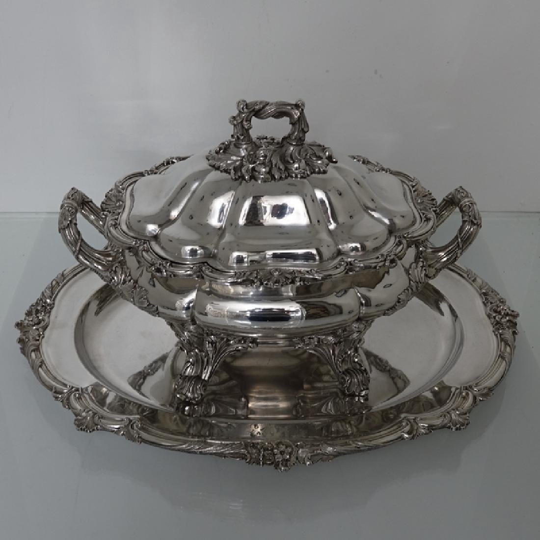 Antique William IV Old Sheffield Silver Soup Tureen - 2