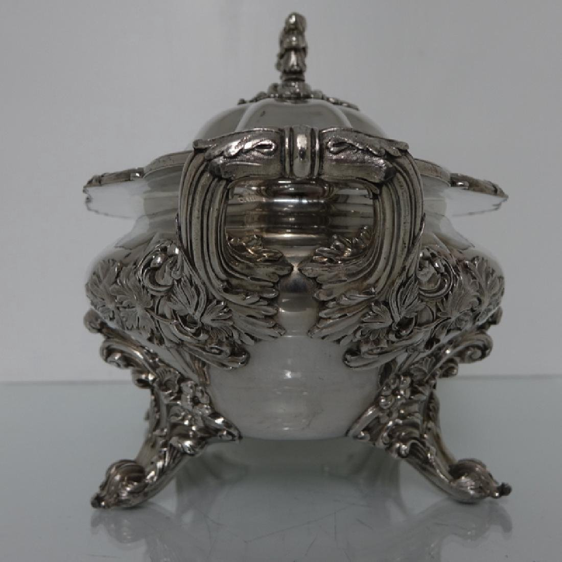 Antique William IV Old Sheffield Silver Soup Tureen - 4