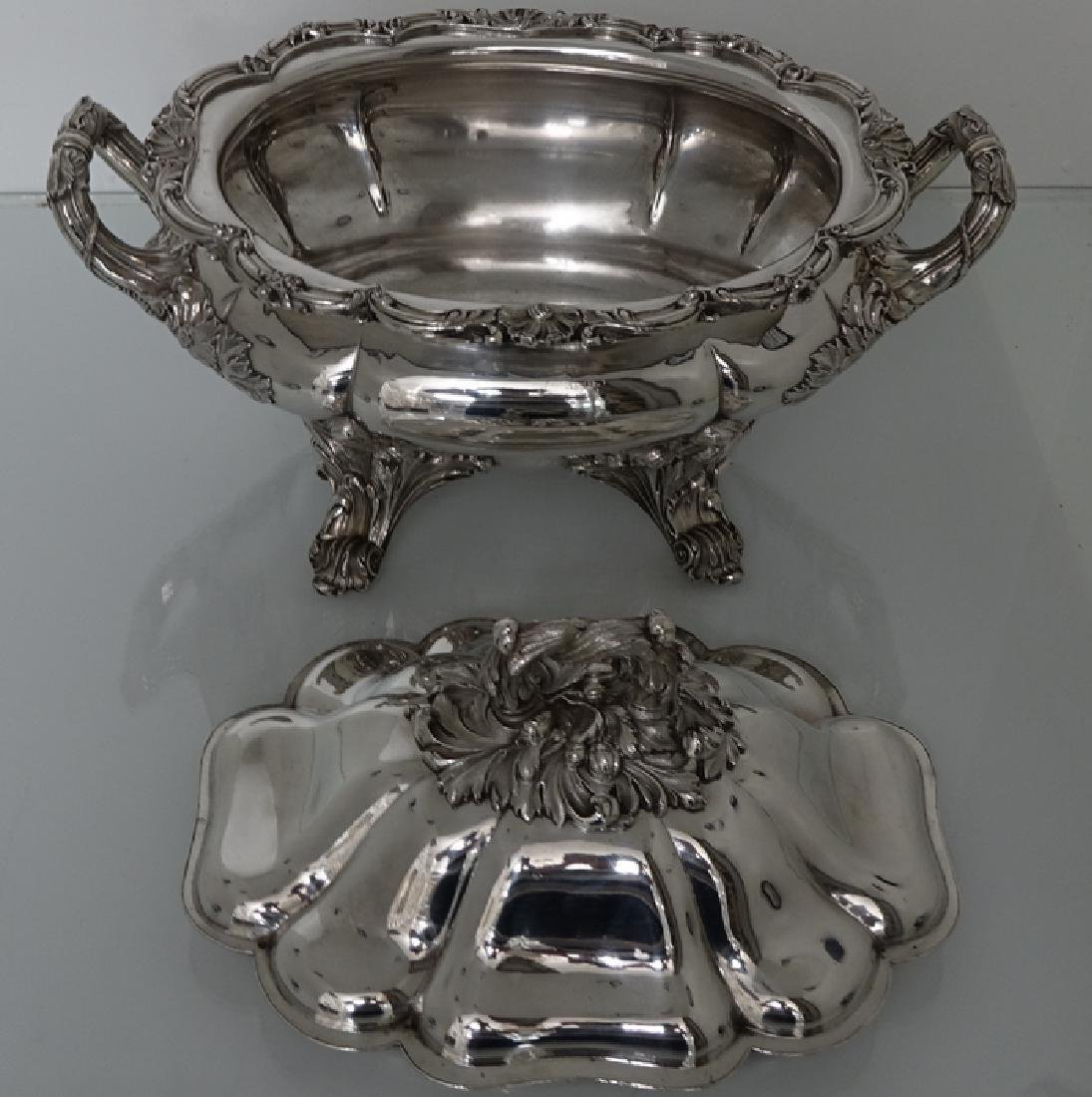 Antique William IV Old Sheffield Silver Soup Tureen - 5
