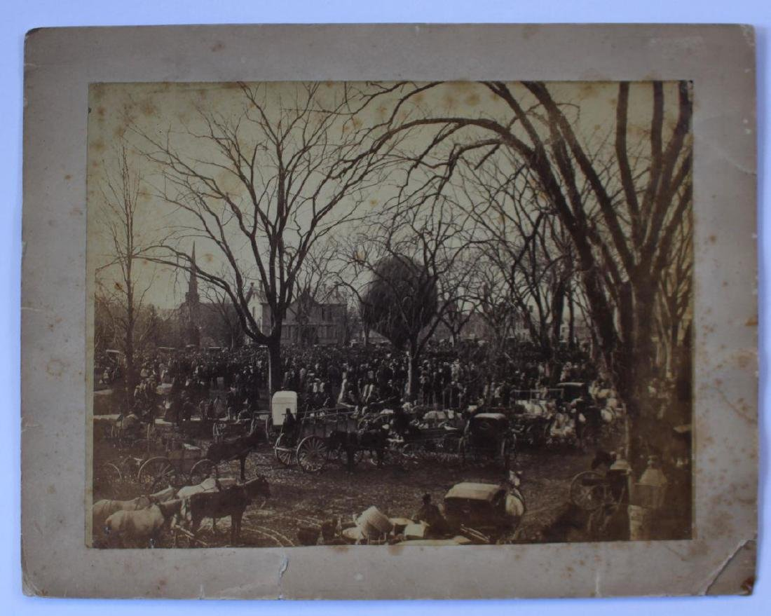 1860s Crowd Surrounds Early Hot Air Balloon Ascension - 2
