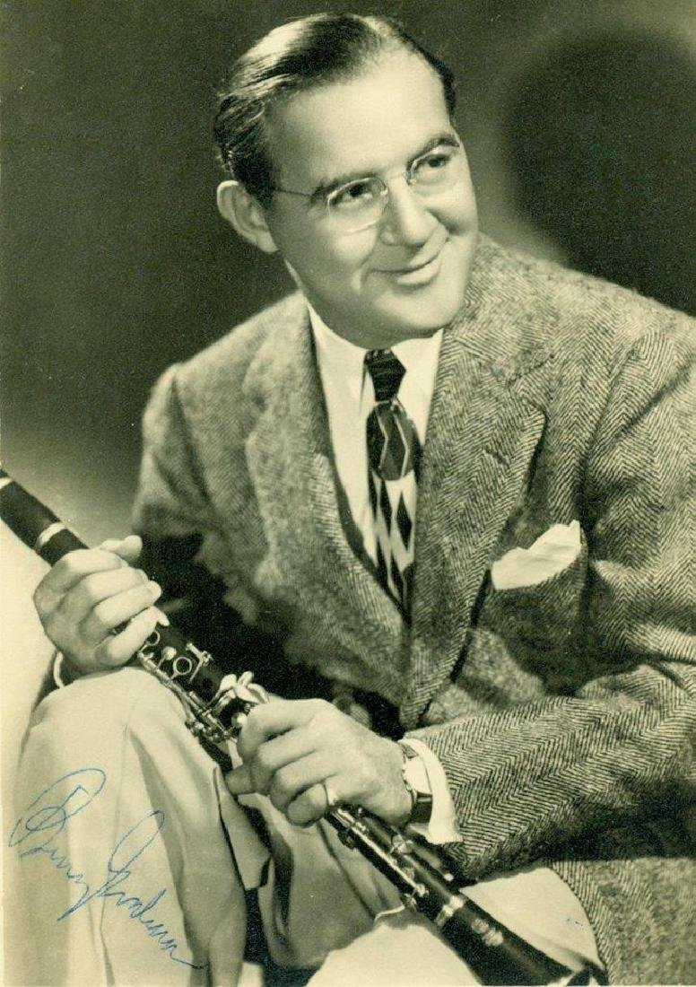 Vintage Publicity Photo Autograph Benny Goodman Jazz