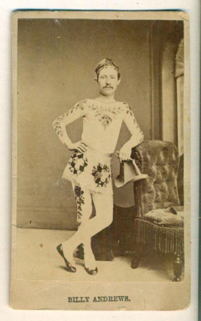 1870 Scarce Circus Performer Costume Billy Andrews
