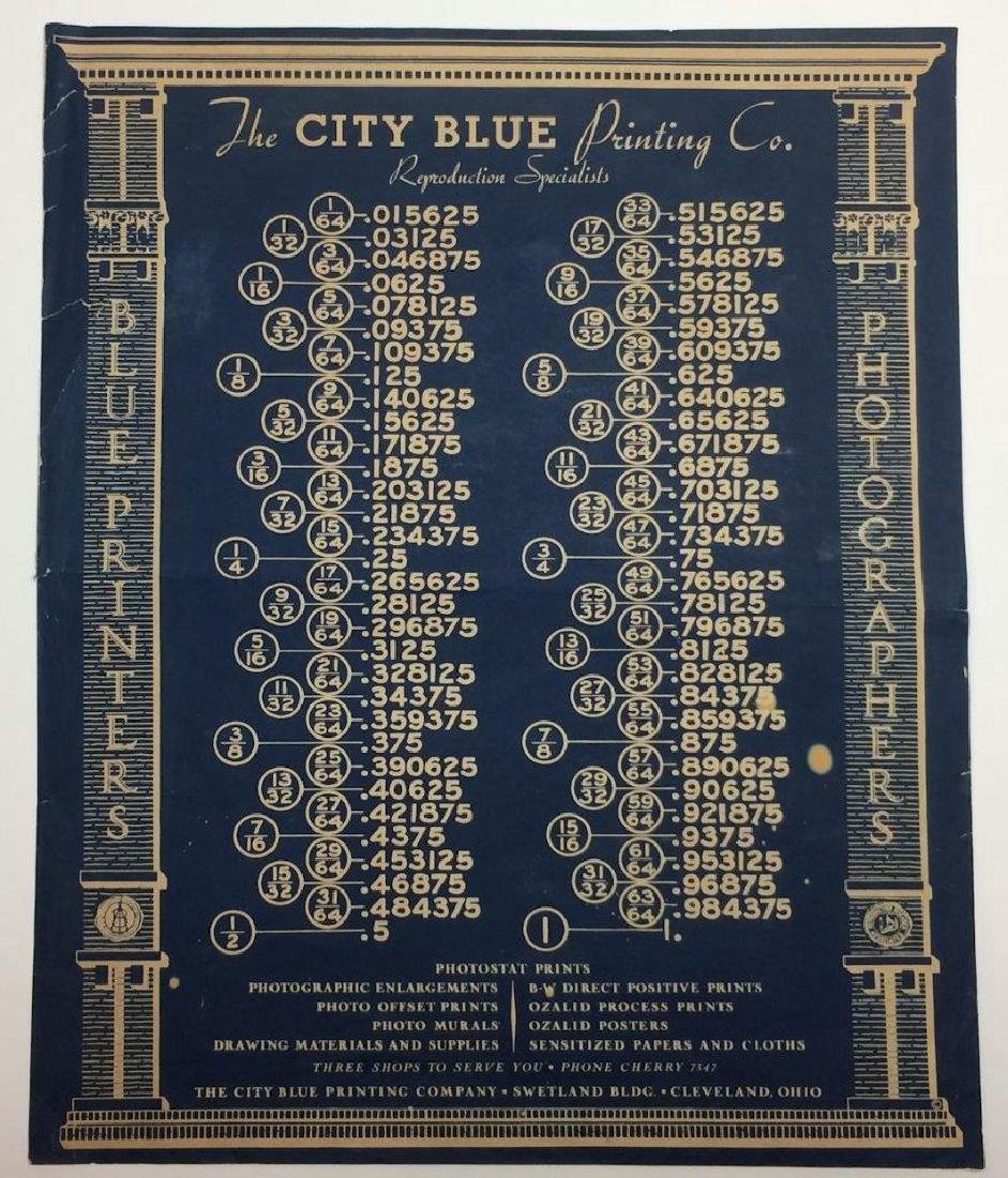 1919 Blueprint Ad City Blue Printing & Photographer
