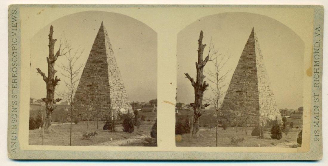 1870 Richmond Virginia Monument Confederate Hollywood - 2