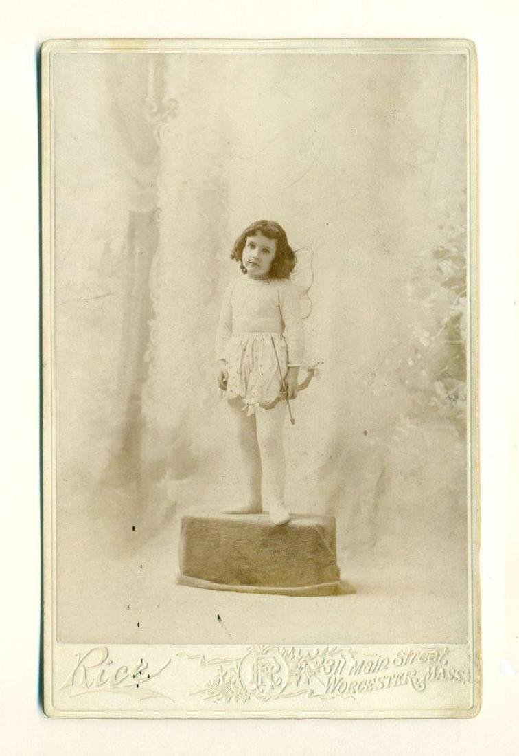 1880 Sweet Little Girl in Cupid Costume Wings