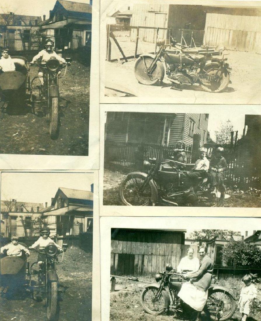 Lot of 5 1920 Vintage Shots Harley Davidson Motorcycle